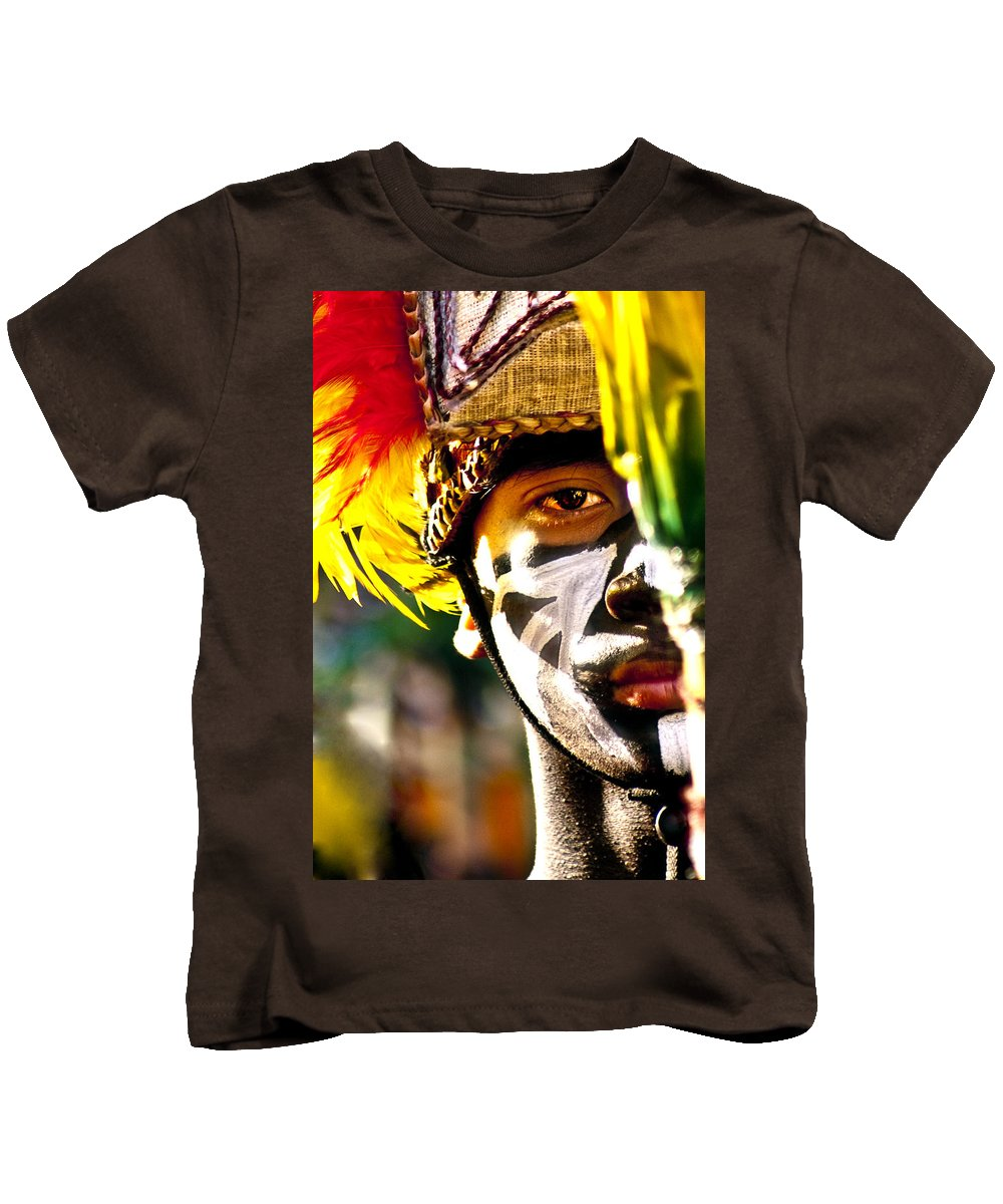 People Kids T-Shirt featuring the photograph Dinagyan1 by George Cabig