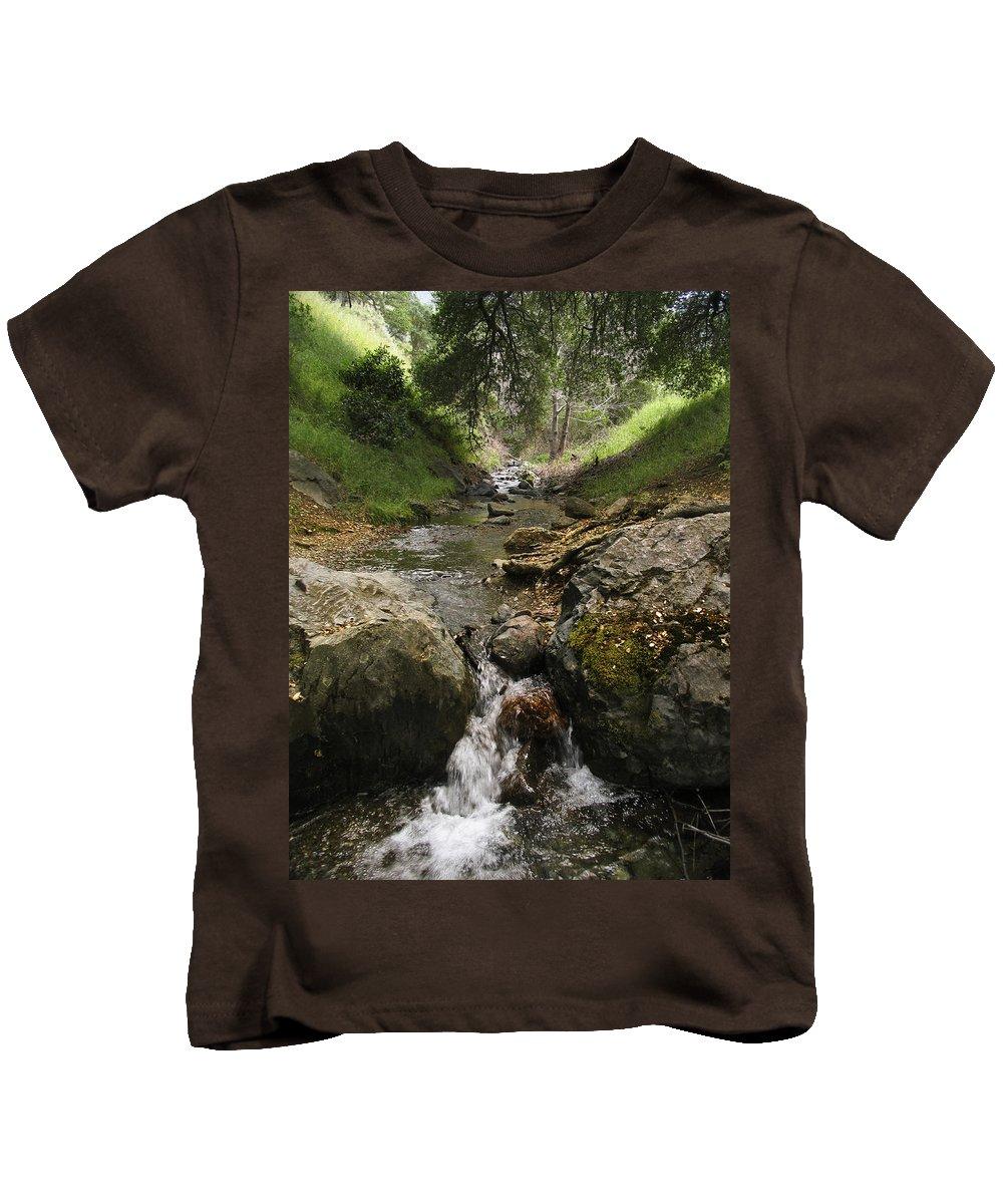 Mt. Diablo Kids T-Shirt featuring the photograph Donner Creek by Karen W Meyer