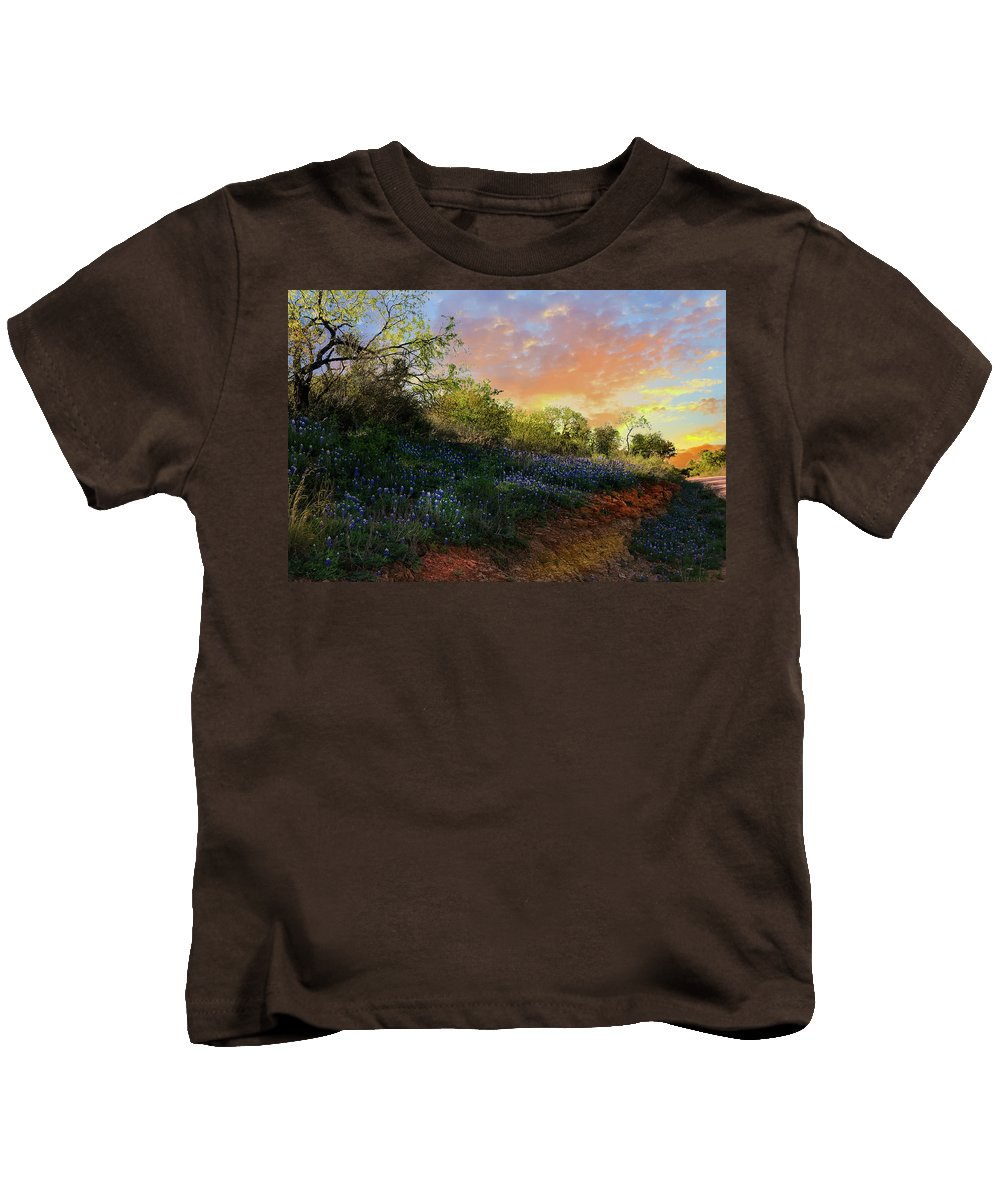 Landscape Kids T-Shirt featuring the photograph Donup Road by Michael Norwood