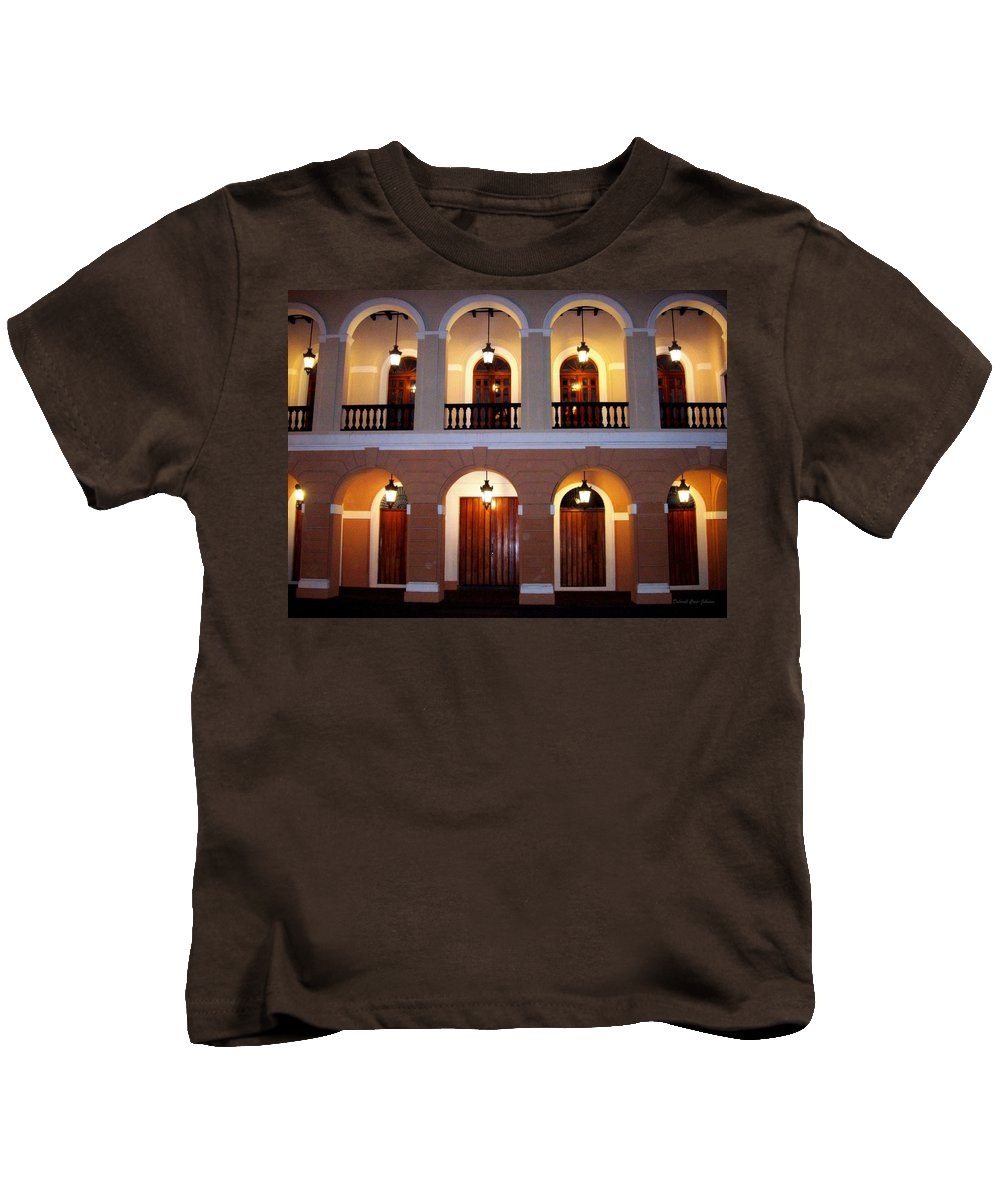 Doors Kids T-Shirt featuring the photograph Doors Of San Juan Square by Deborah Crew-Johnson
