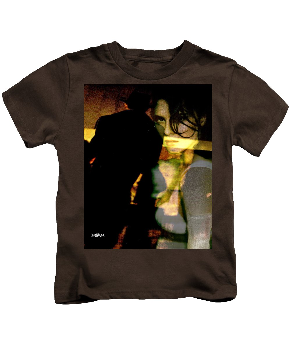 Mystery Kids T-Shirt featuring the digital art Drama After Dark by Seth Weaver