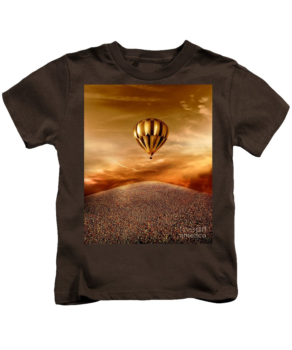 Golden Kids T-Shirt featuring the photograph Dream by Jacky Gerritsen
