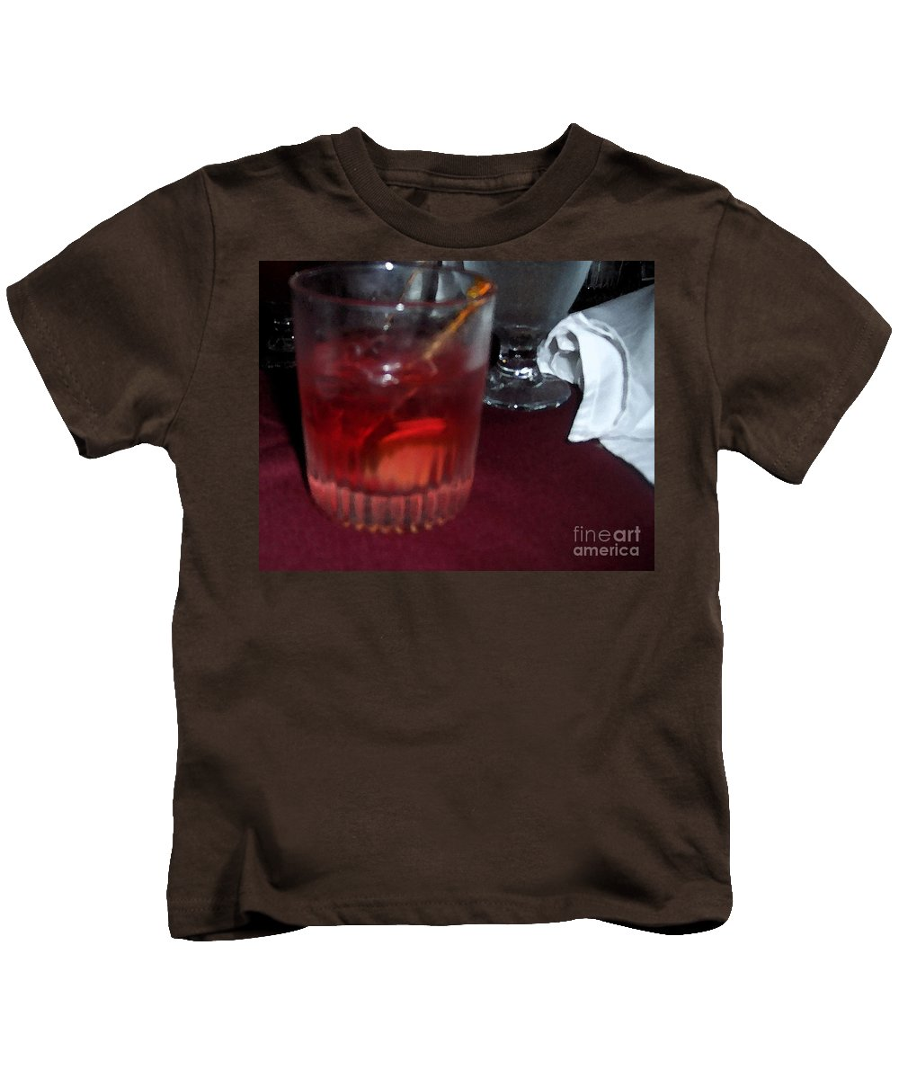 Drinks Kids T-Shirt featuring the photograph Drink Up by Debbi Granruth