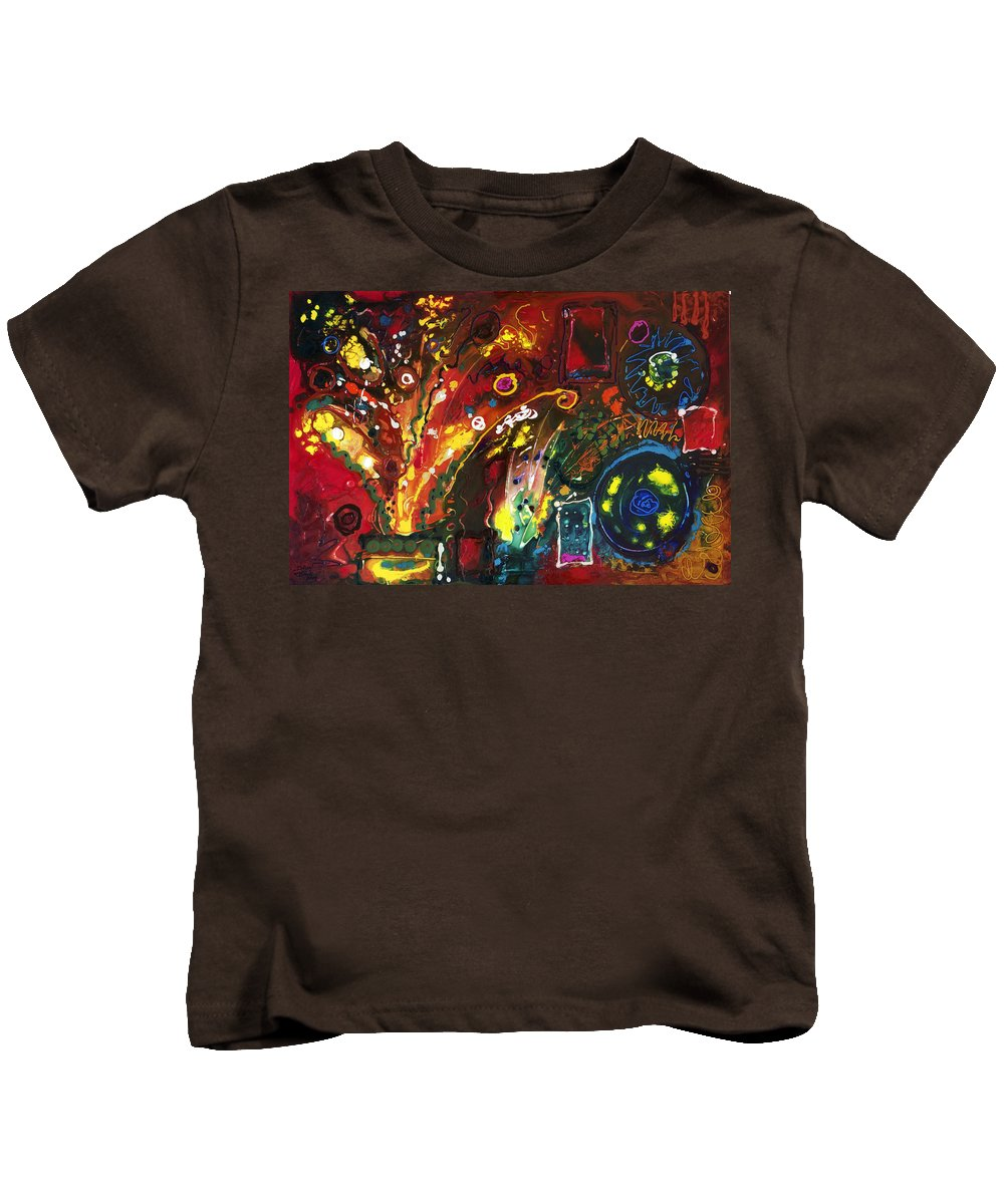 Floral Kids T-Shirt featuring the painting Early Bouquet by Sally Trace