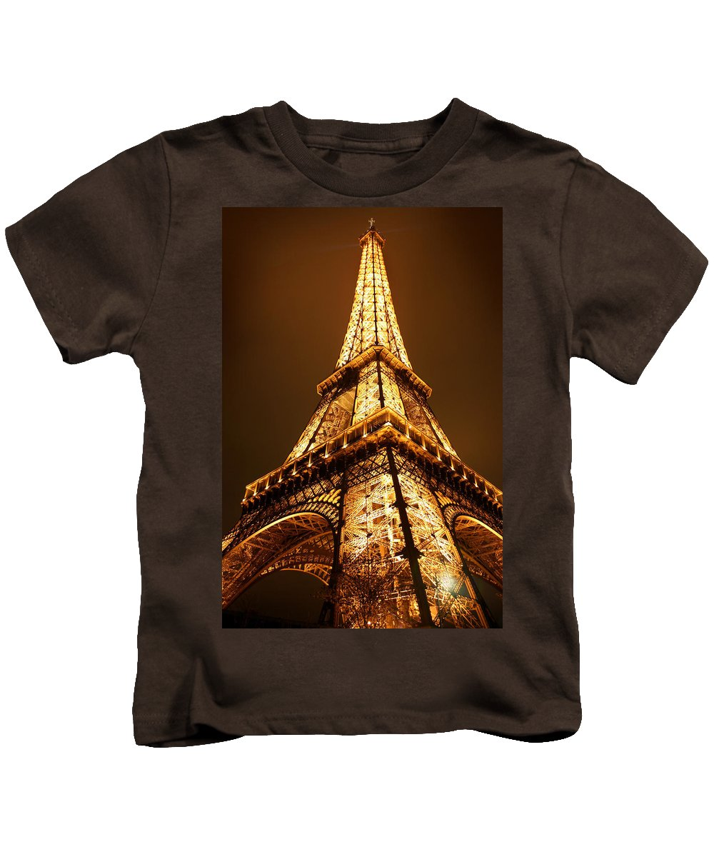 Eiffel Kids T-Shirt featuring the photograph Eiffel by Skip Hunt