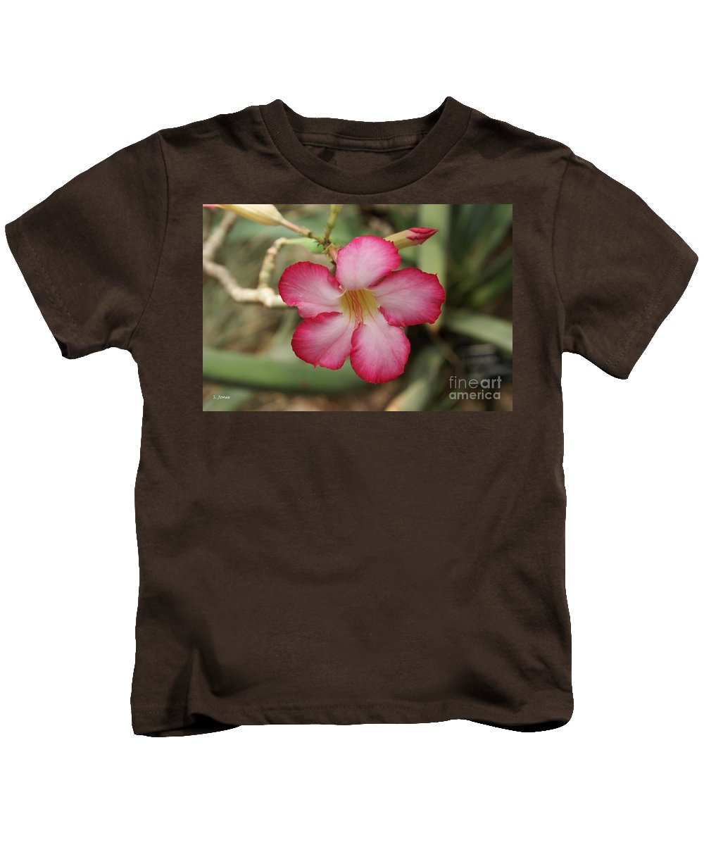 Floral Kids T-Shirt featuring the photograph Elegant by Shelley Jones