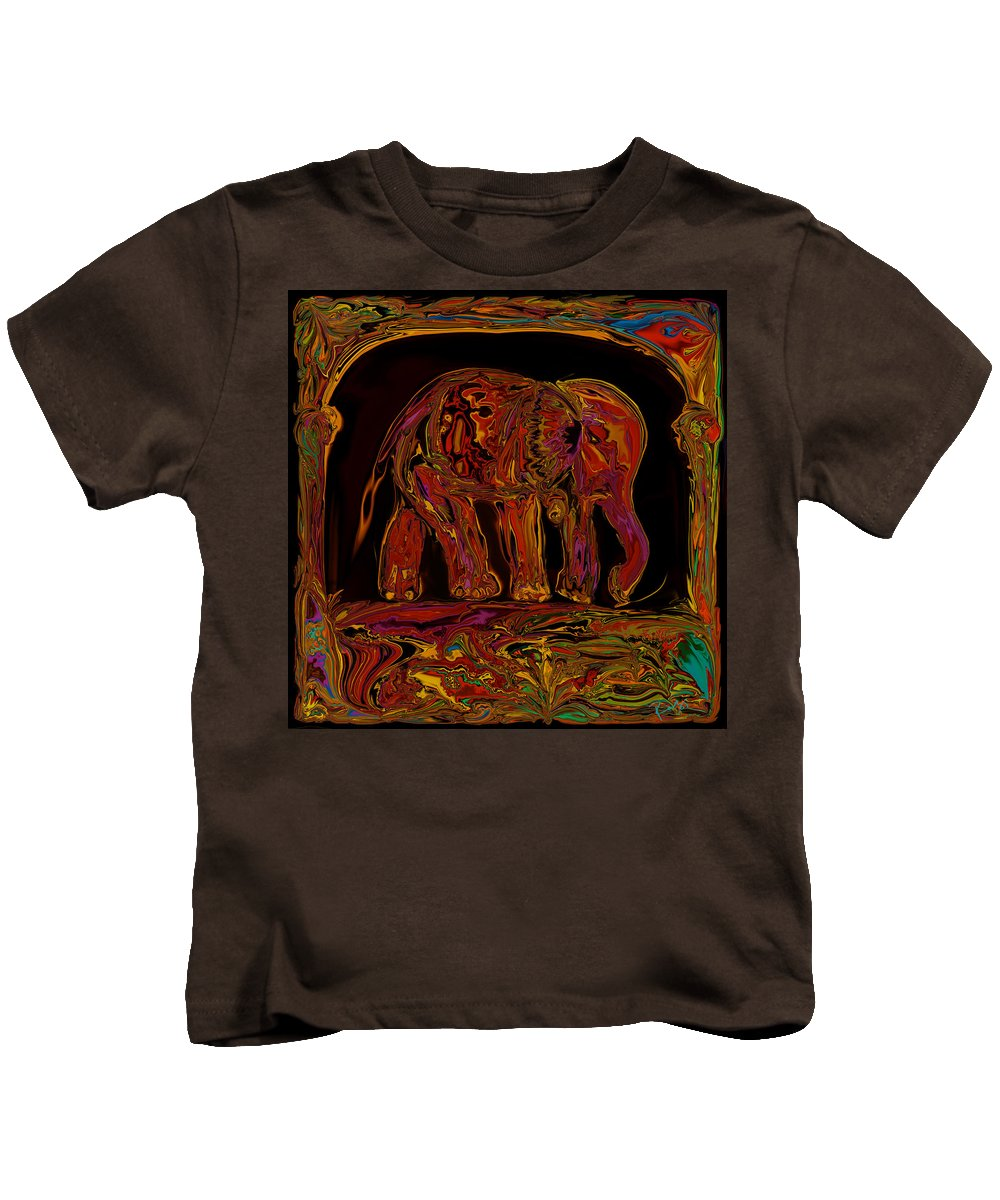 Animal Kids T-Shirt featuring the digital art Elephant by Rabi Khan