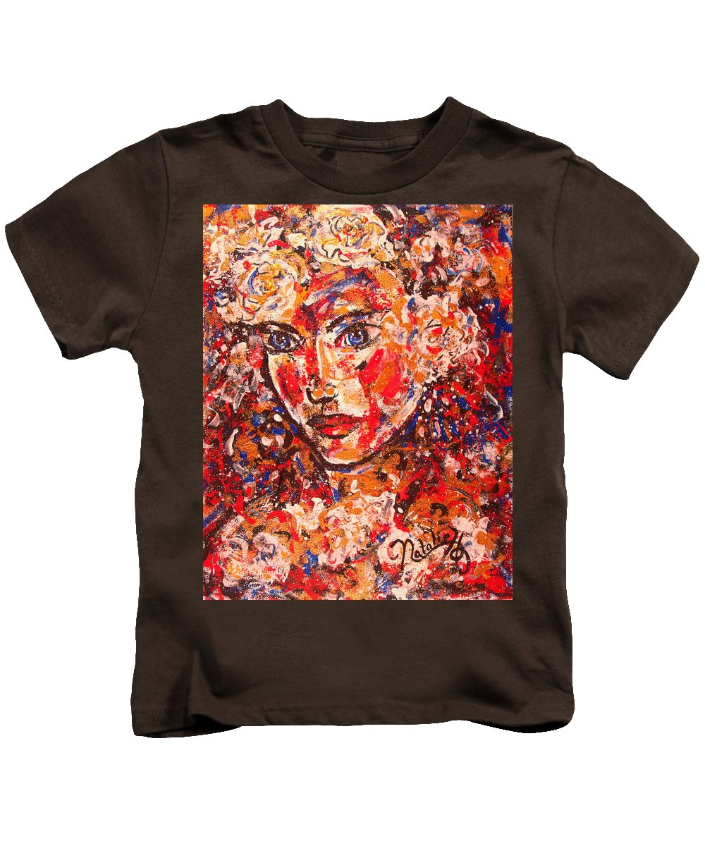 Female Kids T-Shirt featuring the painting Elizabeth by Natalie Holland