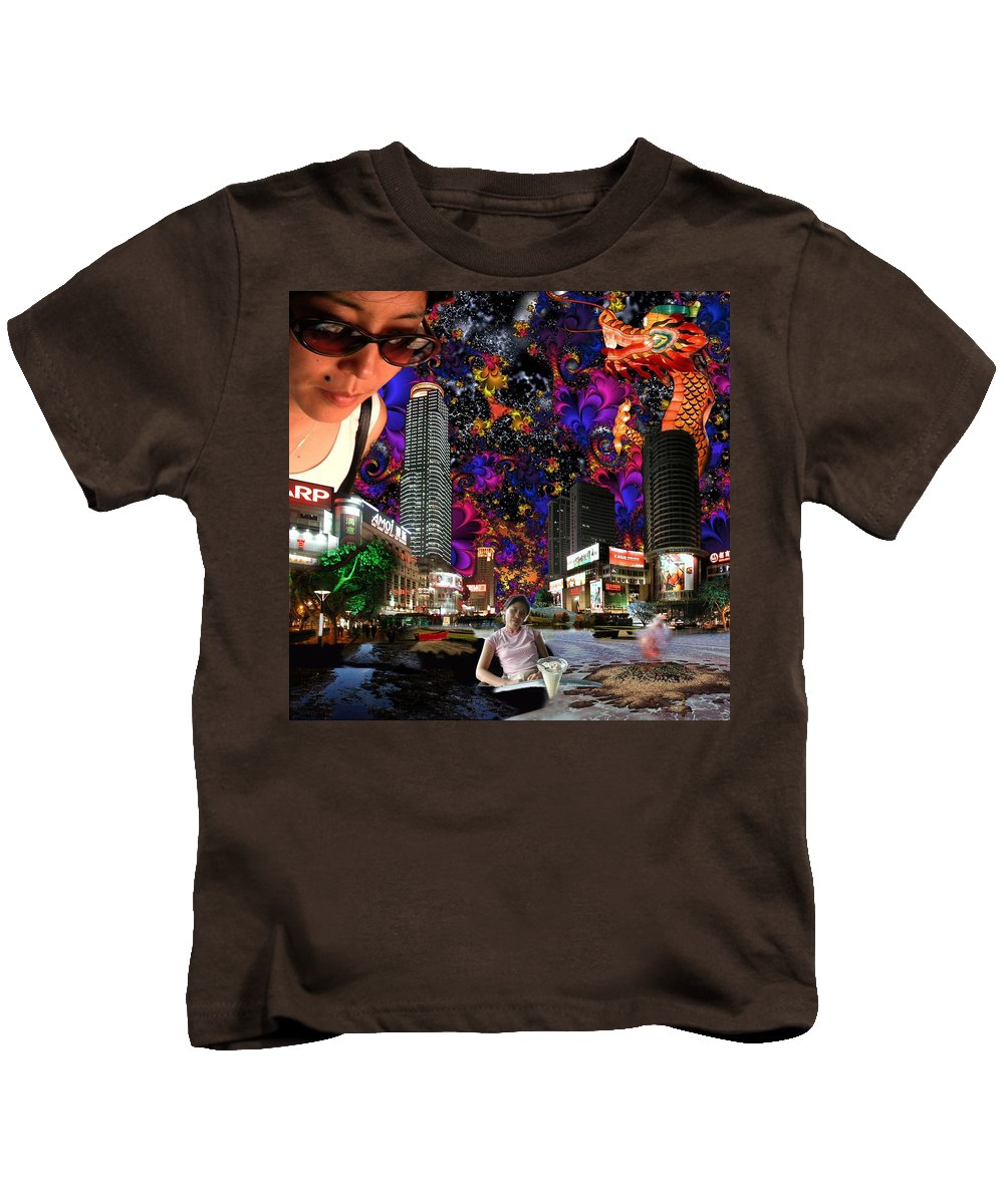 Emma Kids T-Shirt featuring the Emma's Sunglasses by Dave Martsolf