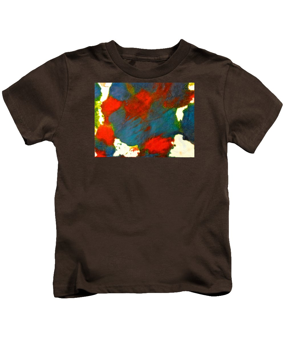 Abstract Kids T-Shirt featuring the painting Energy Field by Kruti Shah