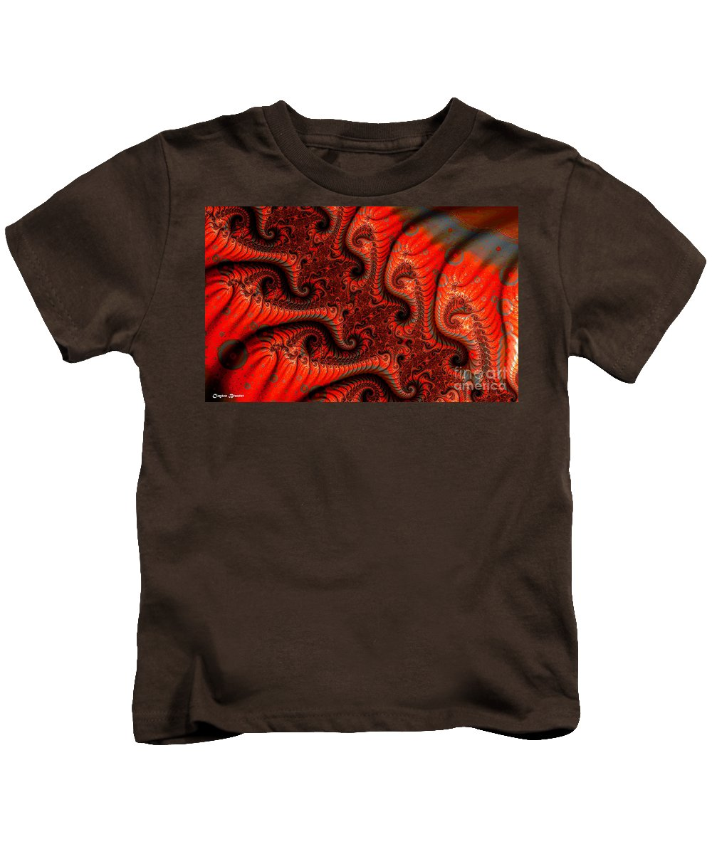 Clay Kids T-Shirt featuring the digital art Epidermal Emancipation by Clayton Bruster