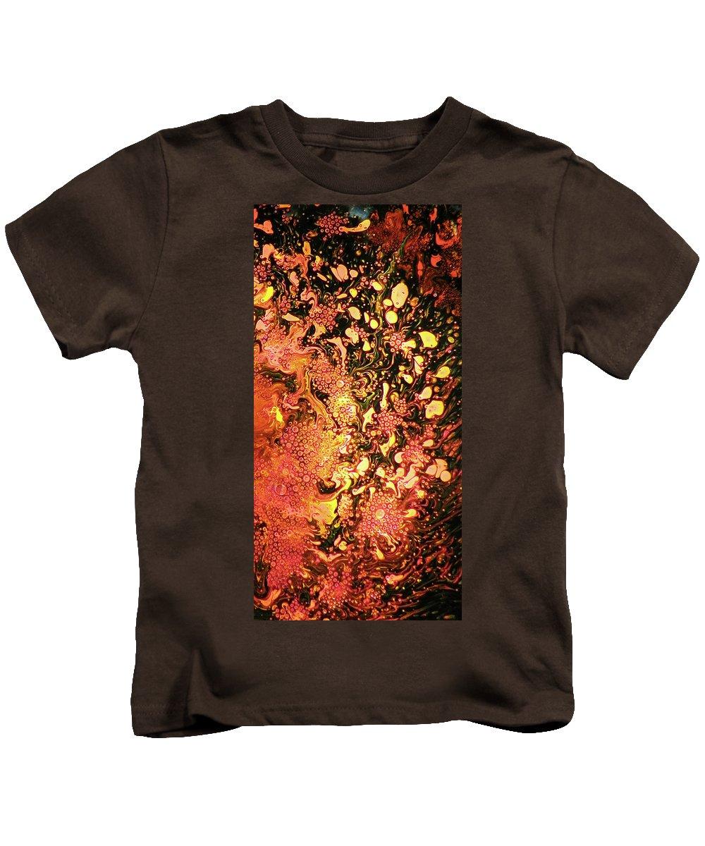 Lava Kids T-Shirt featuring the digital art Eruption by Francesa Miller
