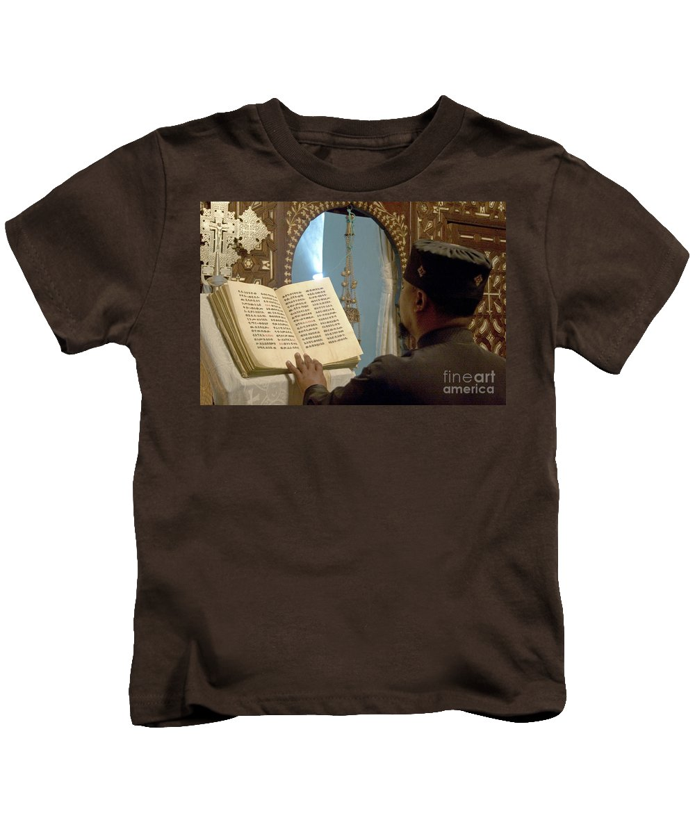 Christian Kids T-Shirt featuring the photograph Ethiopian Priest by Danny Yanai
