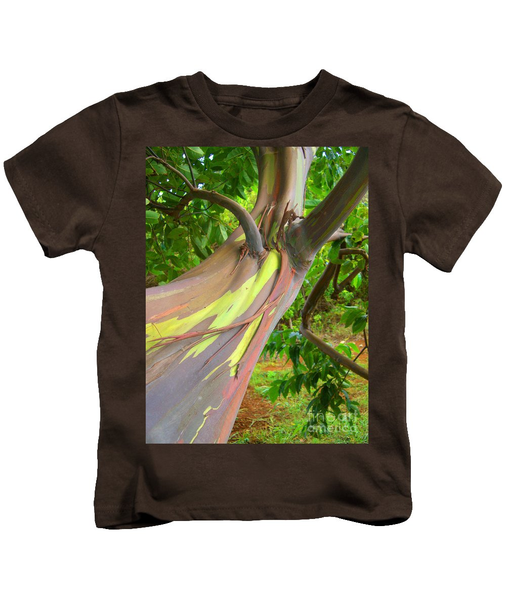 Background Kids T-Shirt featuring the photograph Eucalyptus Tree by Ron Dahlquist - Printscapes