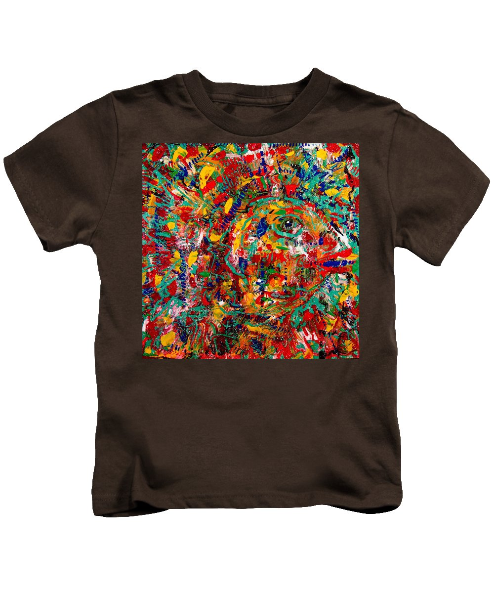 Abstract Kids T-Shirt featuring the painting Eye Of The Beholder by Natalie Holland