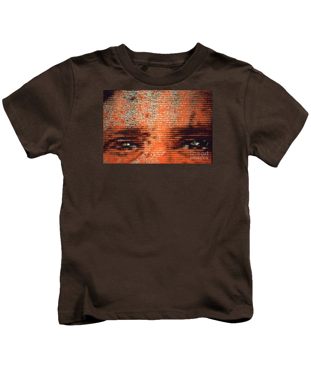 Depression Kids T-Shirt featuring the digital art Eyes Tell All by George D Gordon III