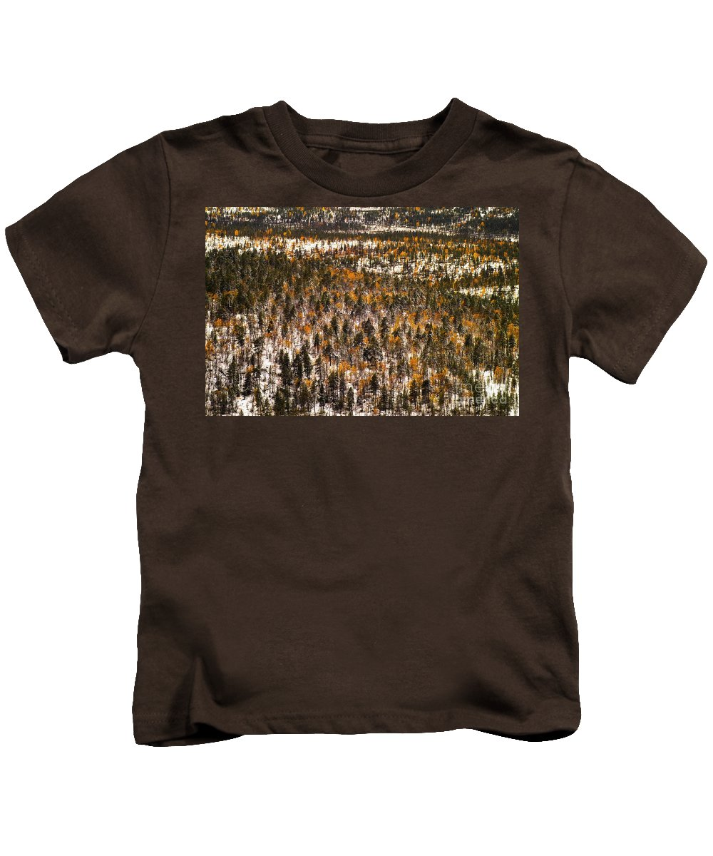 Europe Kids T-Shirt featuring the photograph Fall And Winter On The Same Day by Heiko Koehrer-Wagner
