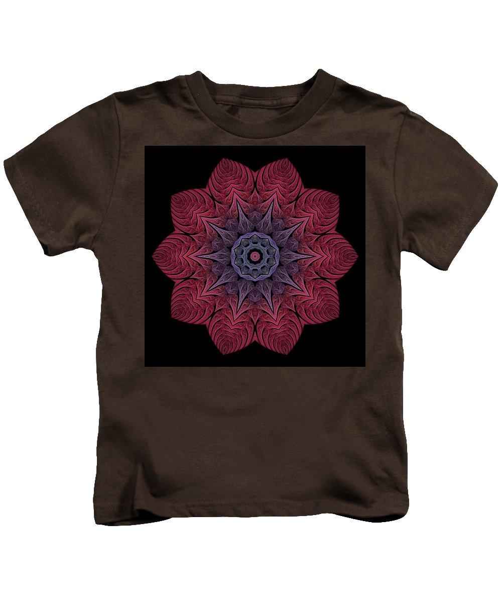 Kids T-Shirt featuring the digital art Fall Blossom Zxk-10-43 by Doug Morgan