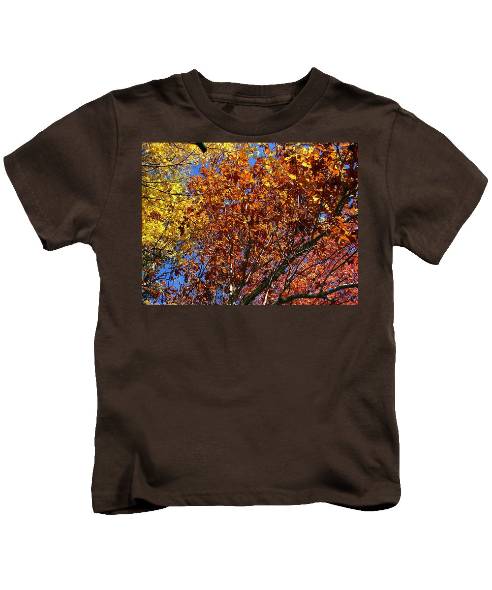 Fall Kids T-Shirt featuring the photograph Fall by Flavia Westerwelle