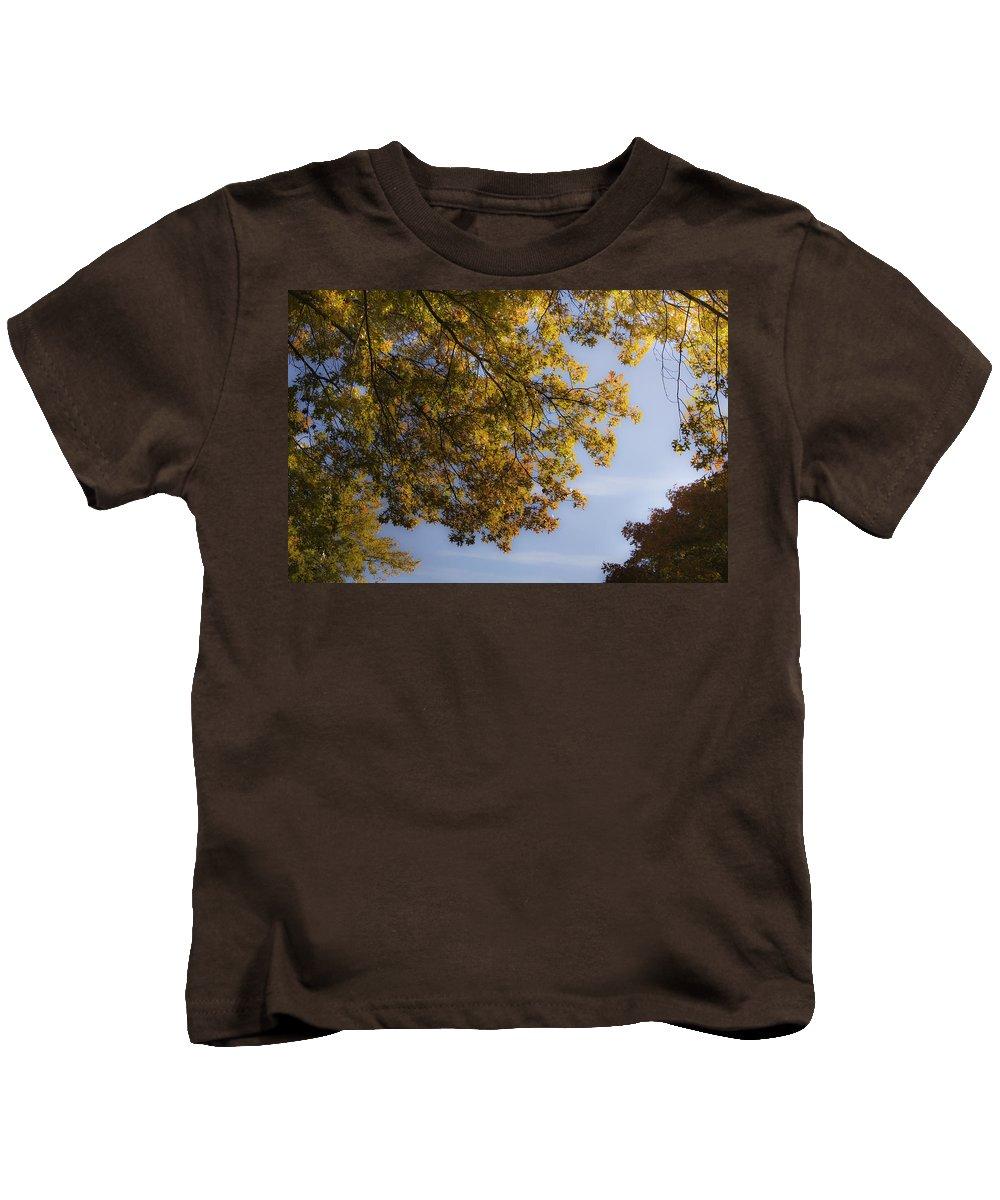 Fall Kids T-Shirt featuring the photograph Fall Magic by Teresa Mucha