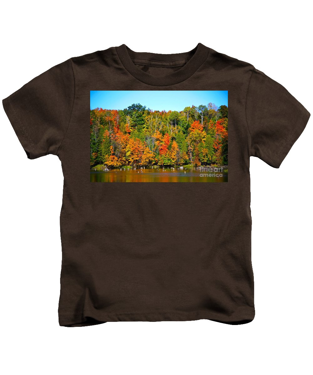 Fall Kids T-Shirt featuring the photograph Fall On The Water by Robert Pearson