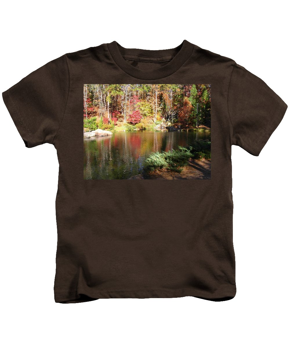 Fall Kids T-Shirt featuring the photograph Fall Reflections by Anne Cameron Cutri