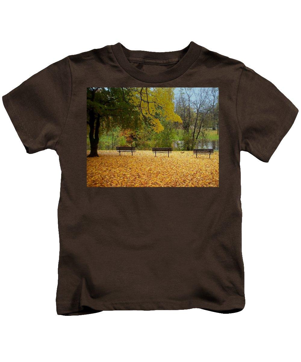 Fall Kids T-Shirt featuring the photograph Fall Series 13 by Anita Burgermeister
