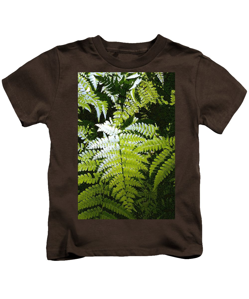 Ferns Kids T-Shirt featuring the photograph Ferns by Nelson Strong