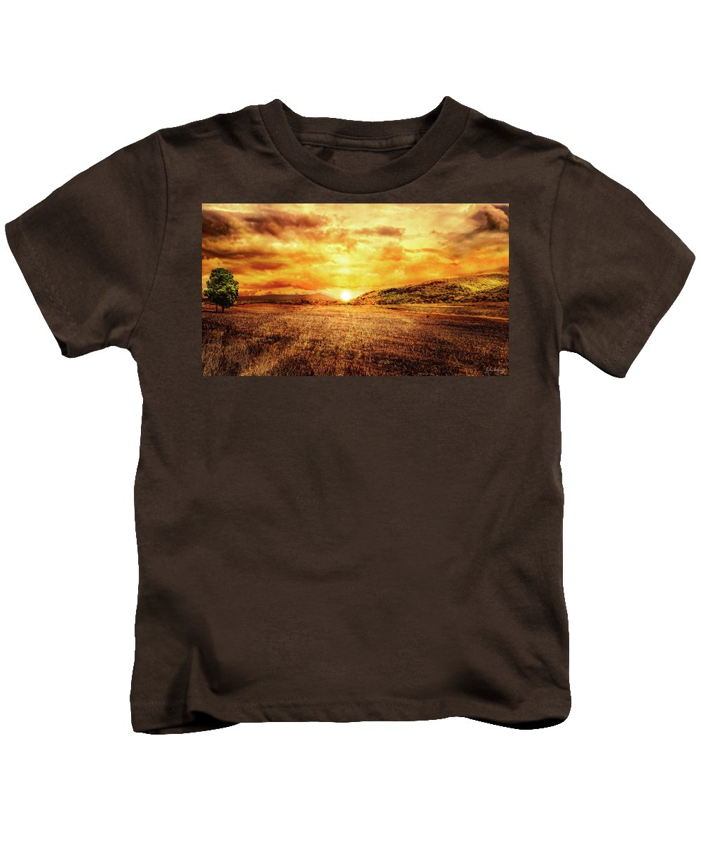Christian Kids T-Shirt featuring the photograph Fields Of Gold by Joshua Zaring