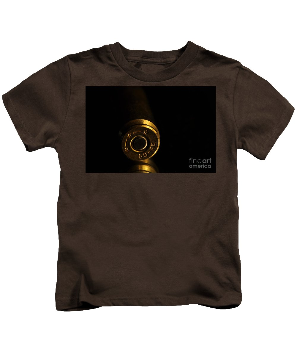 Bronze Kids T-Shirt featuring the photograph Fifty Caliber Ae by Crystal J Harwood