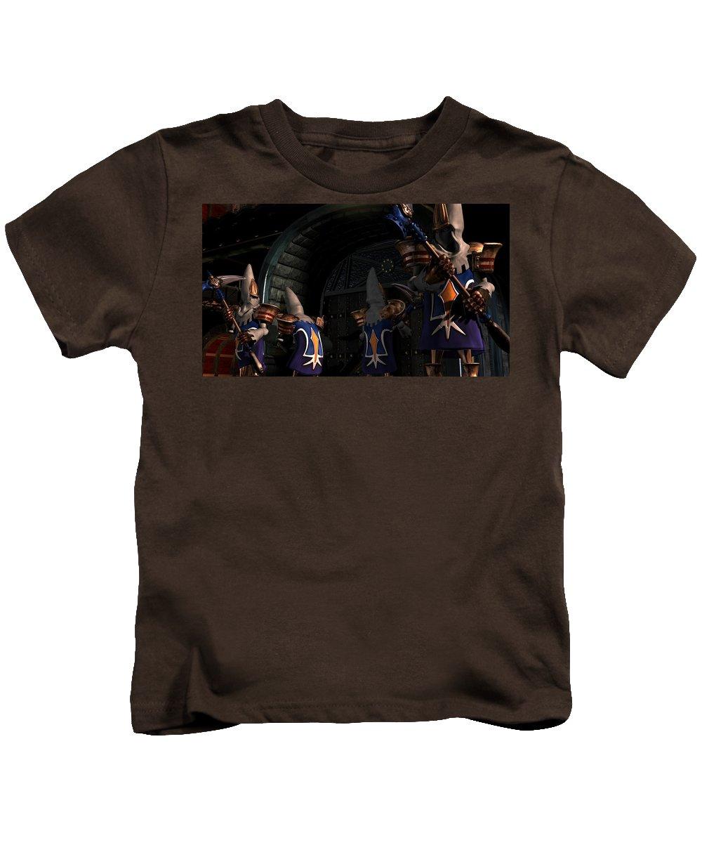 Final Fantasy Ix Kids T-Shirt featuring the digital art final fantasy IX by Dorothy Binder