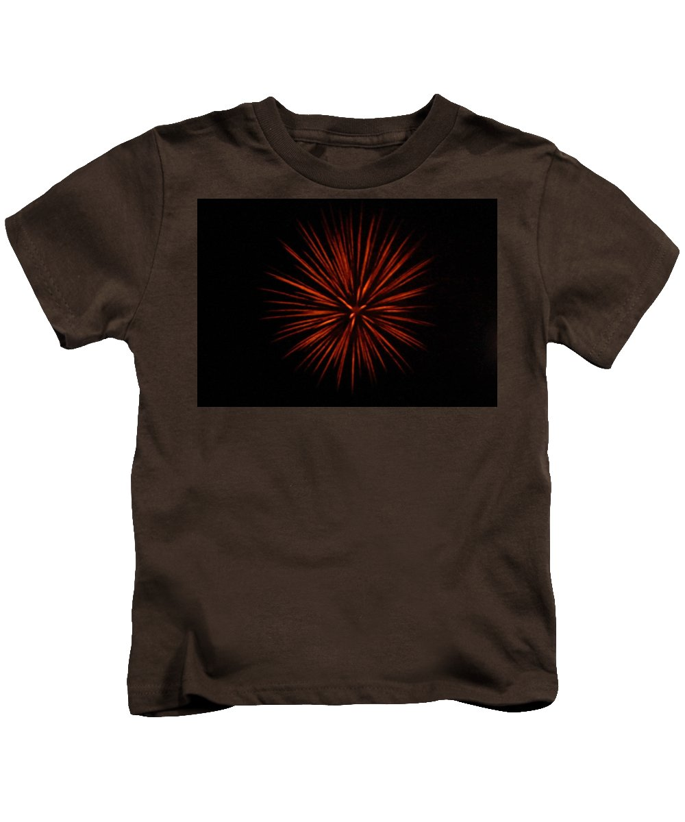 Firework fireworks Concord new Hampshire concord Kids T-Shirt featuring the photograph Firework by Paul StCyr