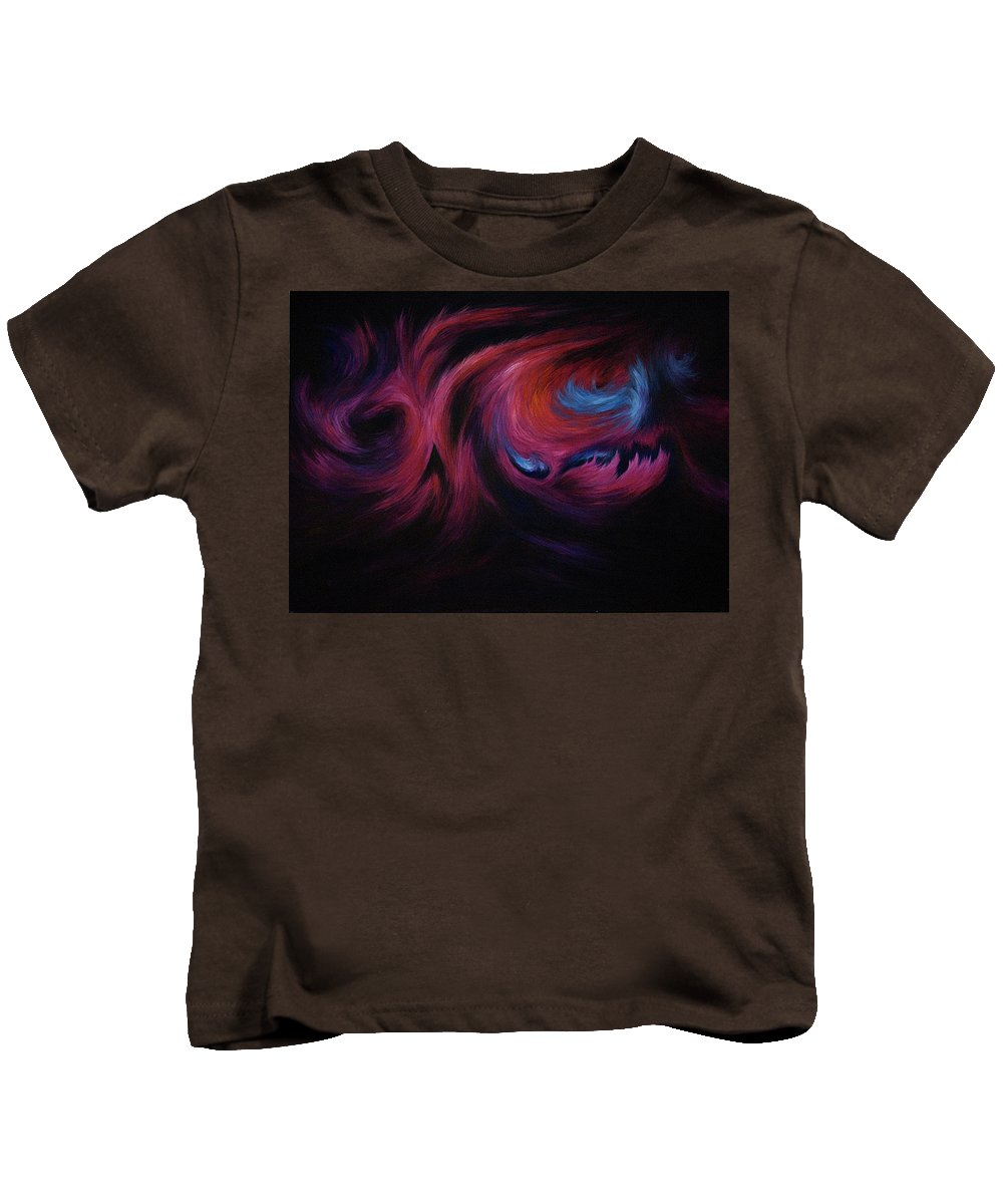 Abstract Kids T-Shirt featuring the painting First Transcendence by Rachel Christine Nowicki