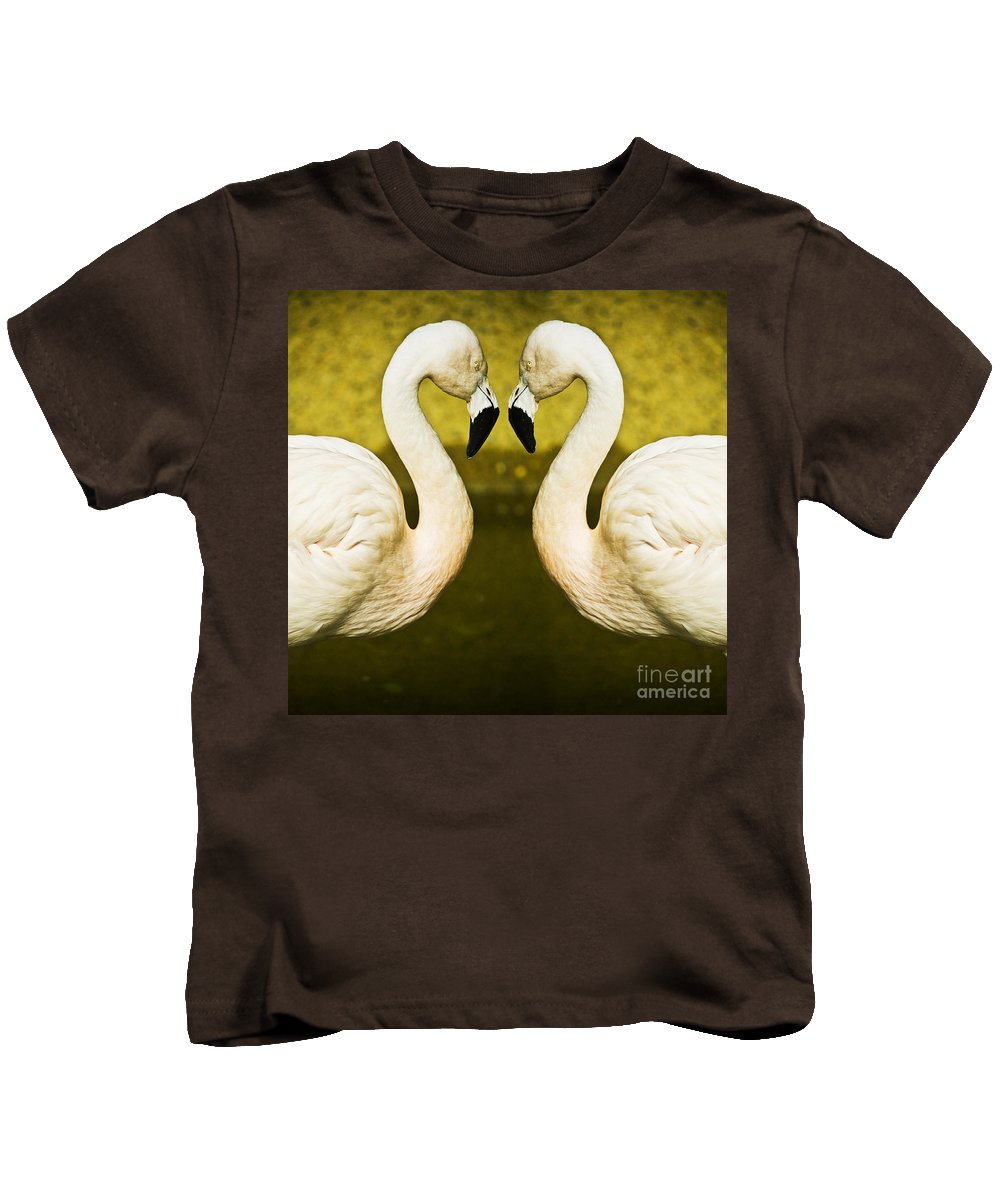 Flamingo Kids T-Shirt featuring the photograph Flamingo Reflection by Sheila Smart Fine Art Photography