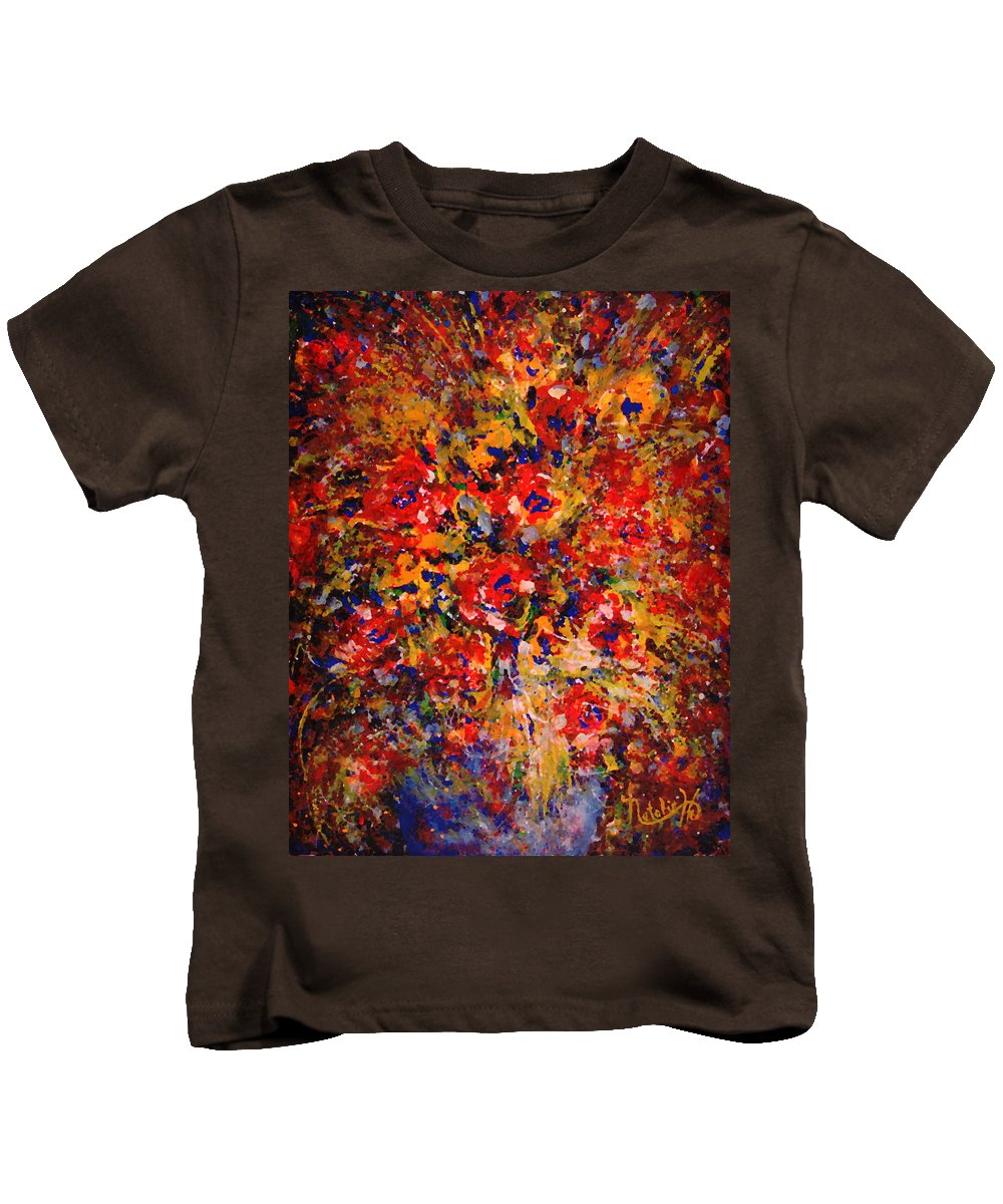 Flowers Kids T-Shirt featuring the painting Floral Feelings by Natalie Holland