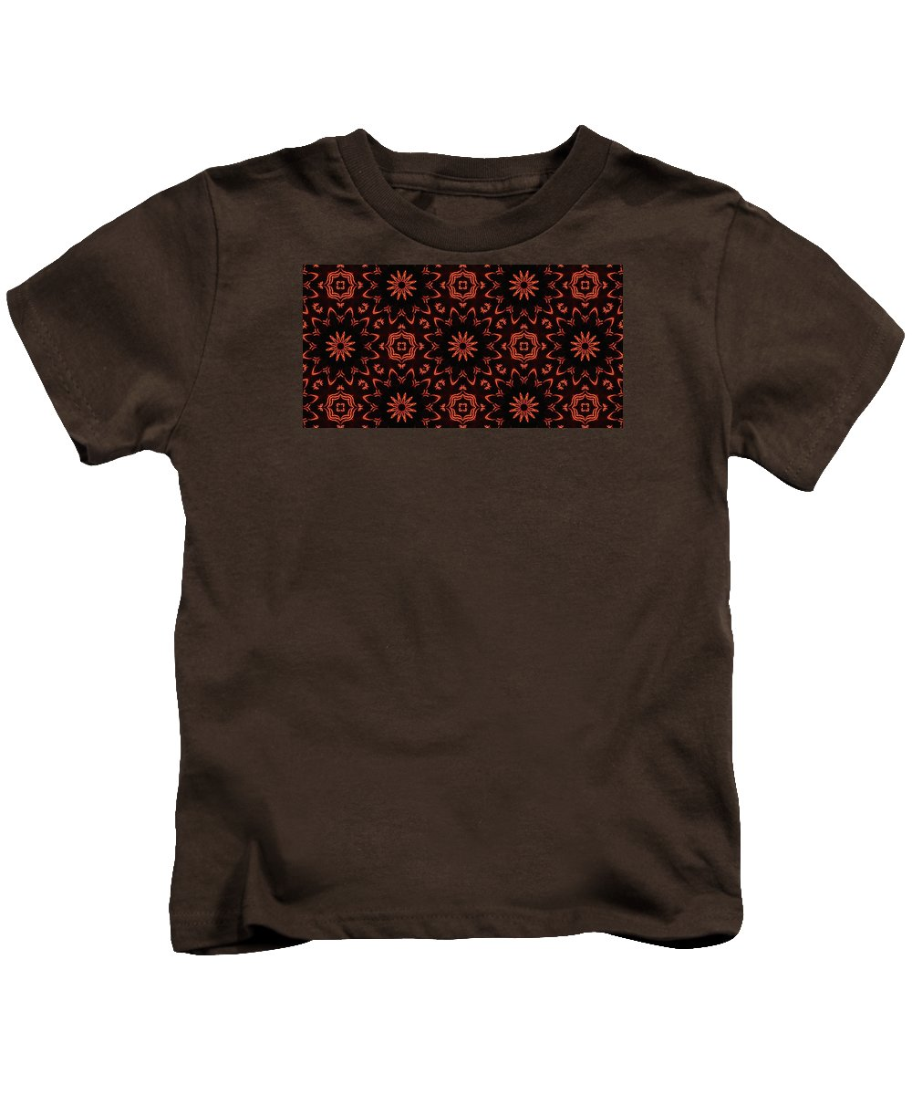 Kaleidoscope Kids T-Shirt featuring the photograph Floral Fire Tapestry by M E Cieplinski