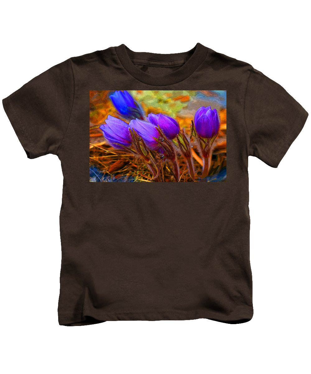 Flowers Kids T-Shirt featuring the photograph Flourescent Flowers by Heather Coen