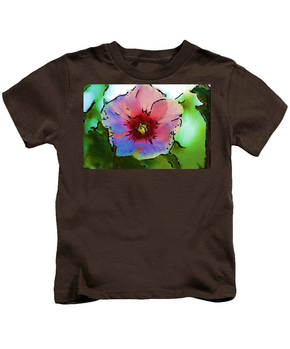 Landscape Kids T-Shirt featuring the photograph Flower 8-15-09 by David Lane