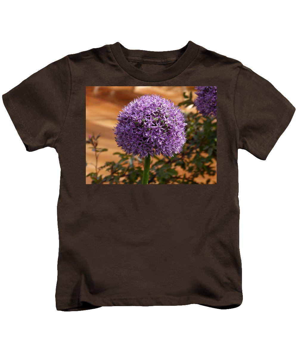 Kids T-Shirt featuring the photograph Flower At Chelsea by Nigel Photogarphy