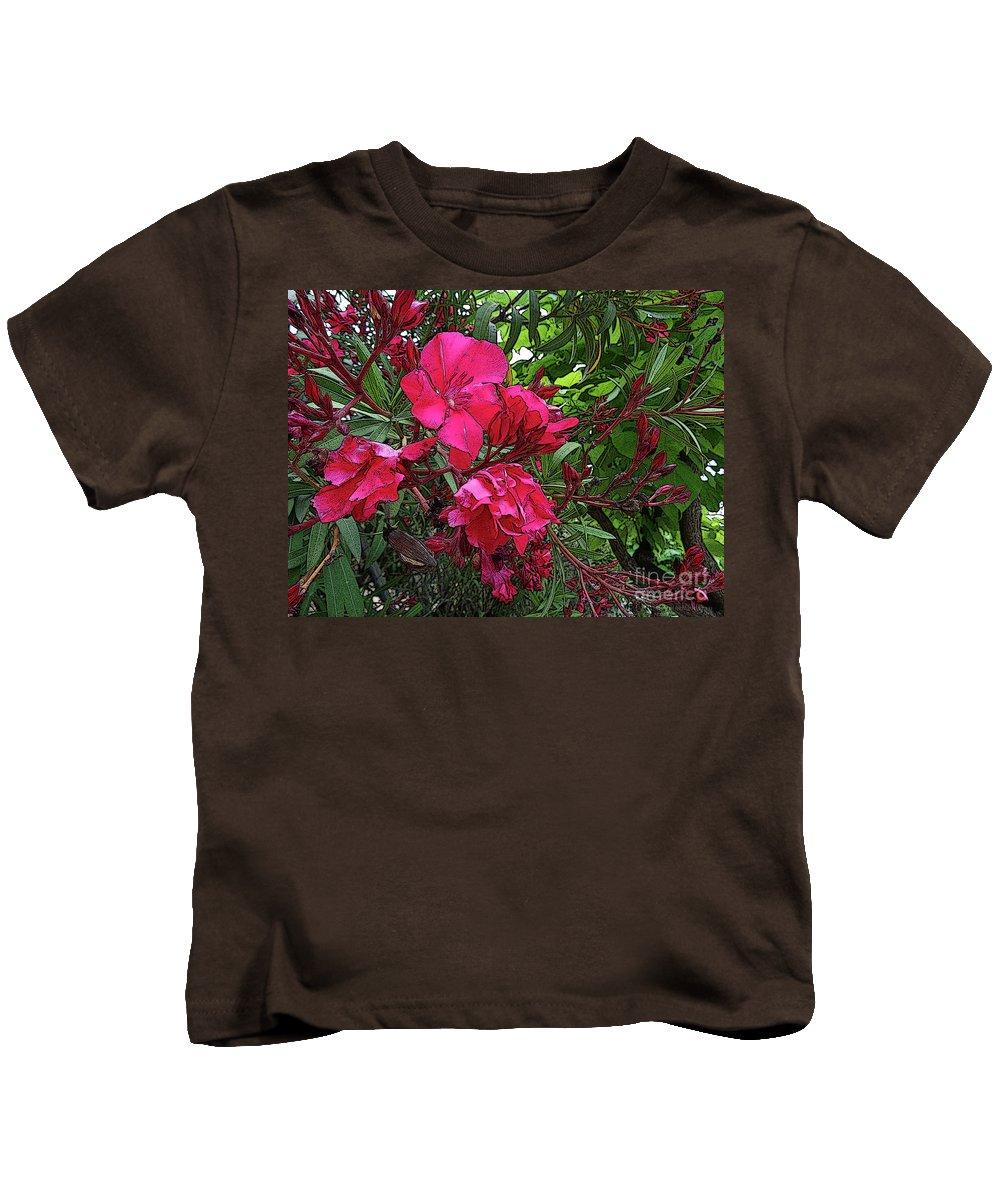 Flowers. Colour. Color Kids T-Shirt featuring the digital art Flower Fest by Don Pedro DE GRACIA
