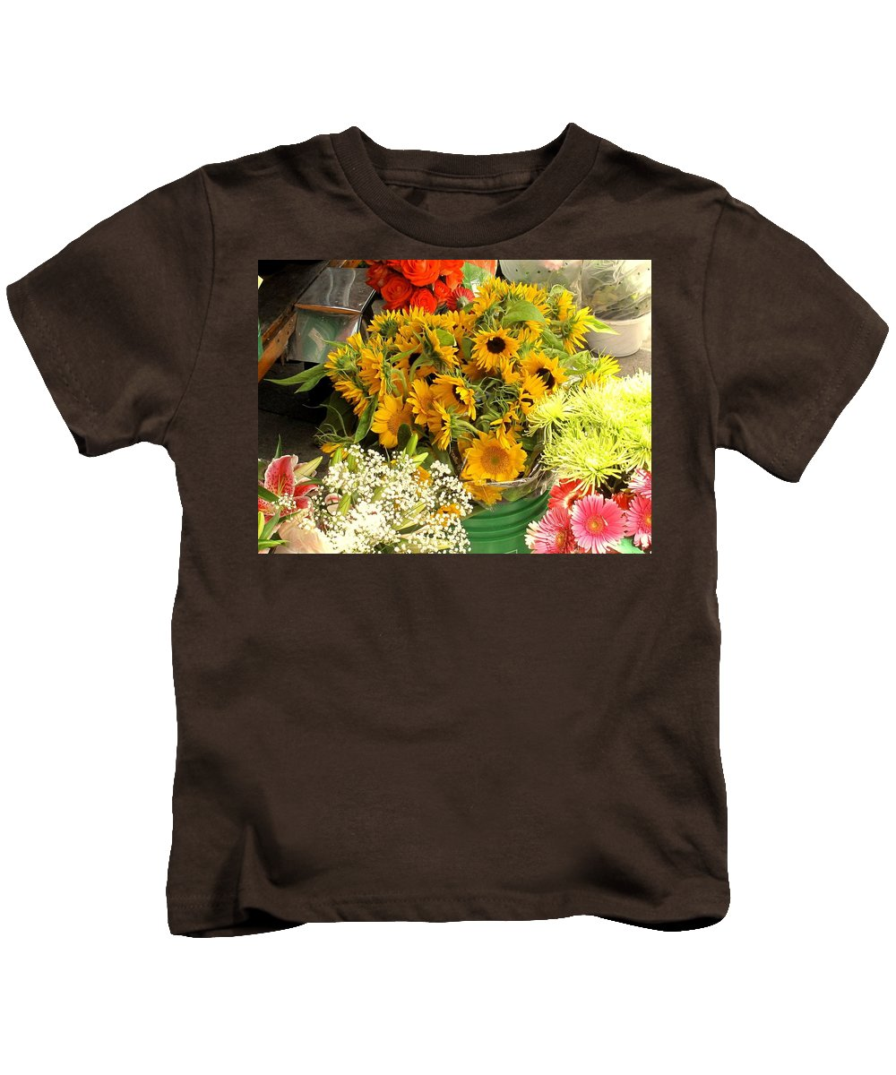 Flowers Kids T-Shirt featuring the photograph Flowers For Sale by Ian MacDonald