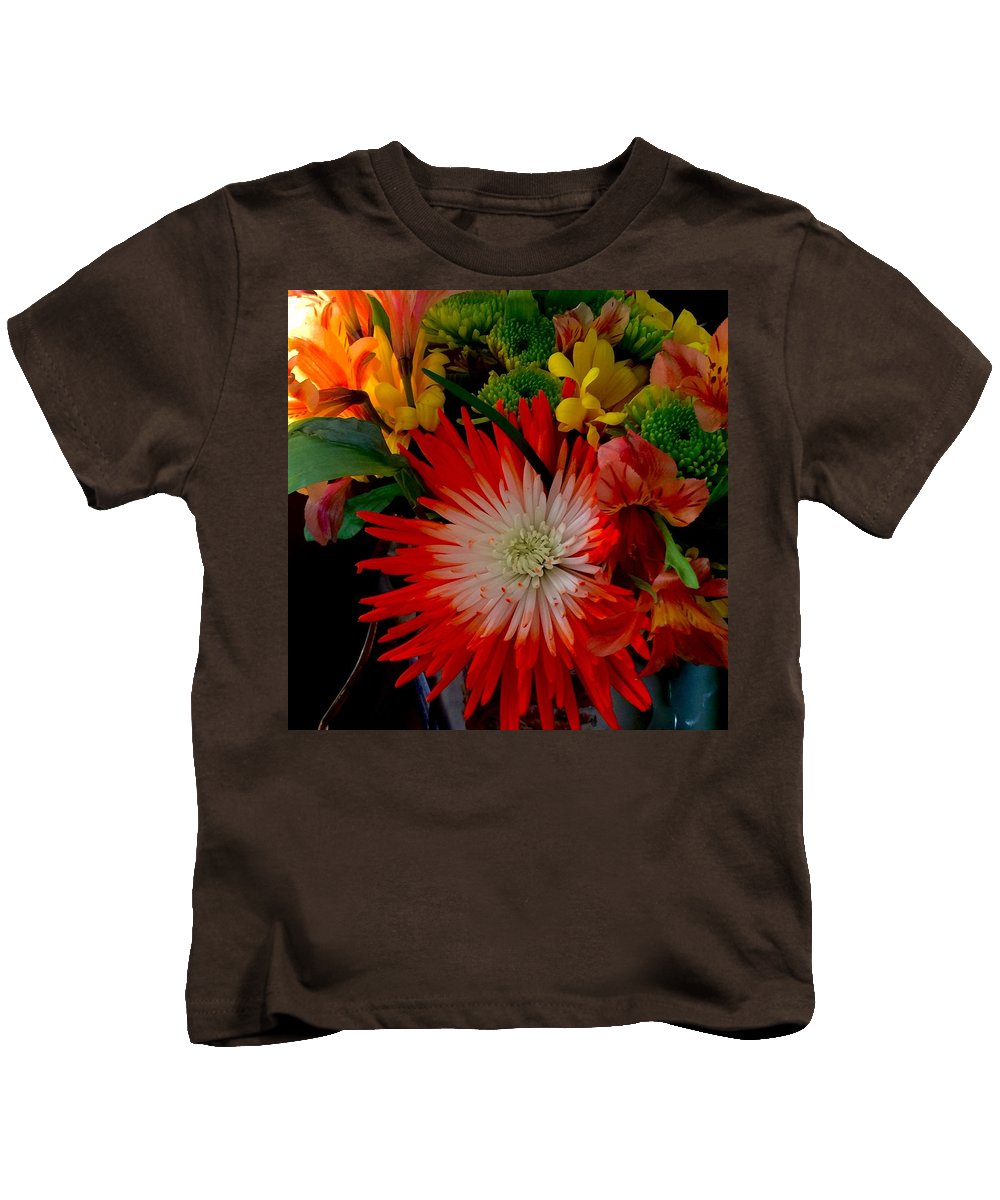 Flowers Kids T-Shirt featuring the photograph Flowers From Dad by Monica Sassano