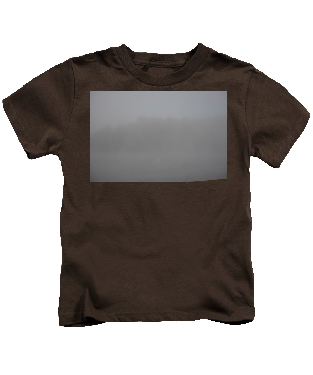 Fog Kids T-Shirt featuring the photograph Foggy Lake by David Irwin