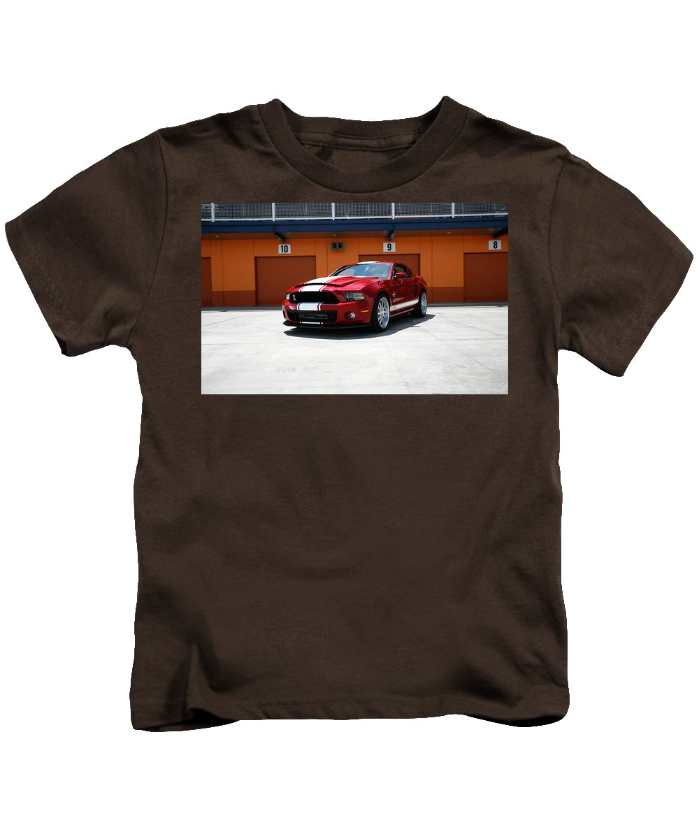 Ford Mustang Shelby Gt500 Kids T-Shirt featuring the digital art Ford Mustang Shelby Gt500 by Dorothy Binder