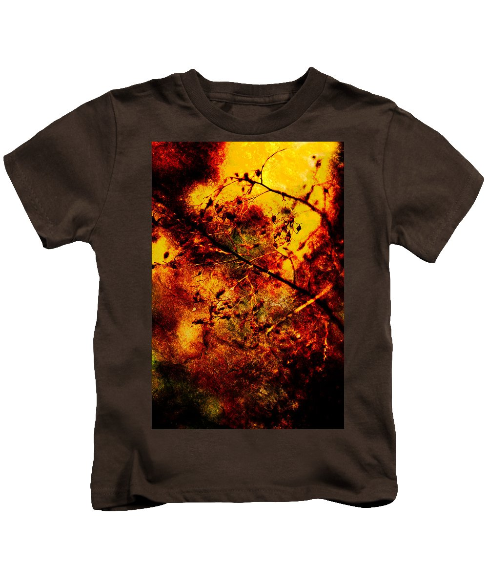 Fire Kids T-Shirt featuring the photograph Forest Fire by Onyonet Photo Studios
