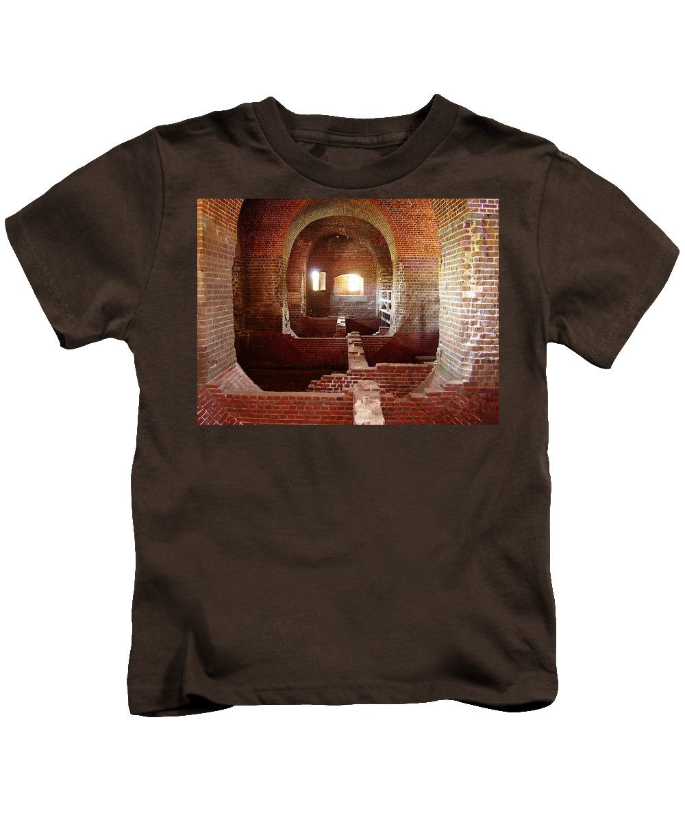 Fort Pulaski Kids T-Shirt featuring the photograph Fort Pulaski I by Flavia Westerwelle