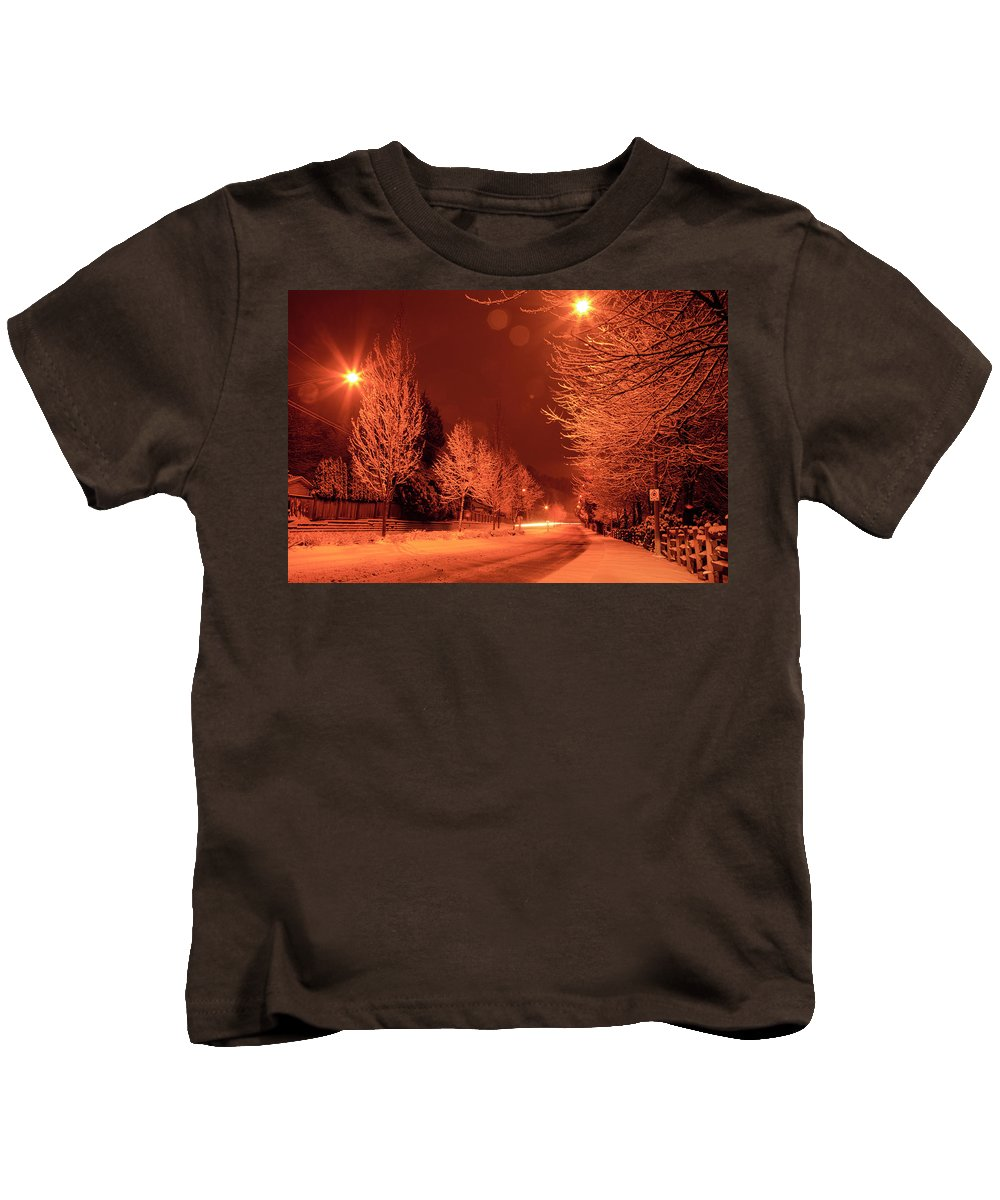 Snow Kids T-Shirt featuring the photograph Fresh Morning Snow by Monte Arnold