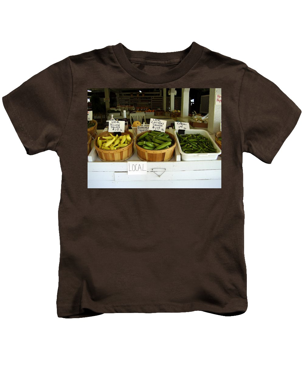 Fresh Produce Kids T-Shirt featuring the photograph Fresh Produce by Flavia Westerwelle
