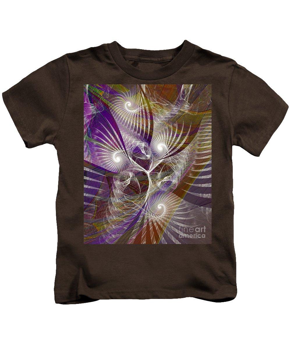 Frost Spirit Kids T-Shirt featuring the digital art Frost Spirit by John Beck