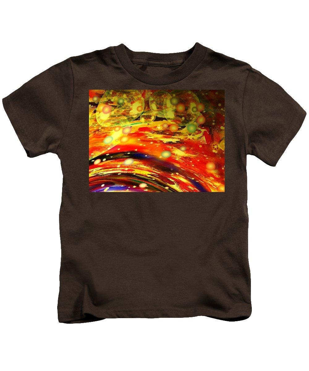 Galaxy Kids T-Shirt featuring the digital art Galaxy by Natalie Holland